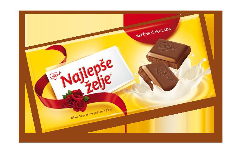 Najlepše Želje mlečna čokolada od 200 grama - Najlepše Želje